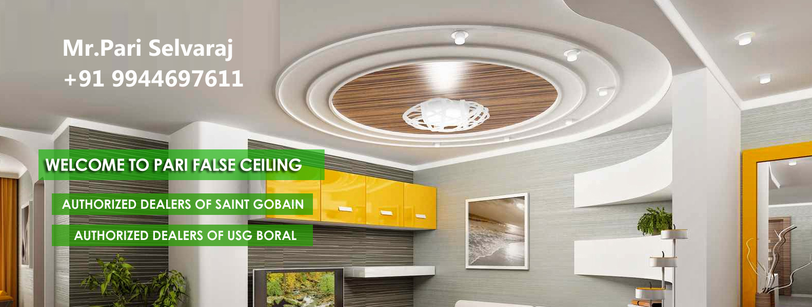 False ceiling in Karur